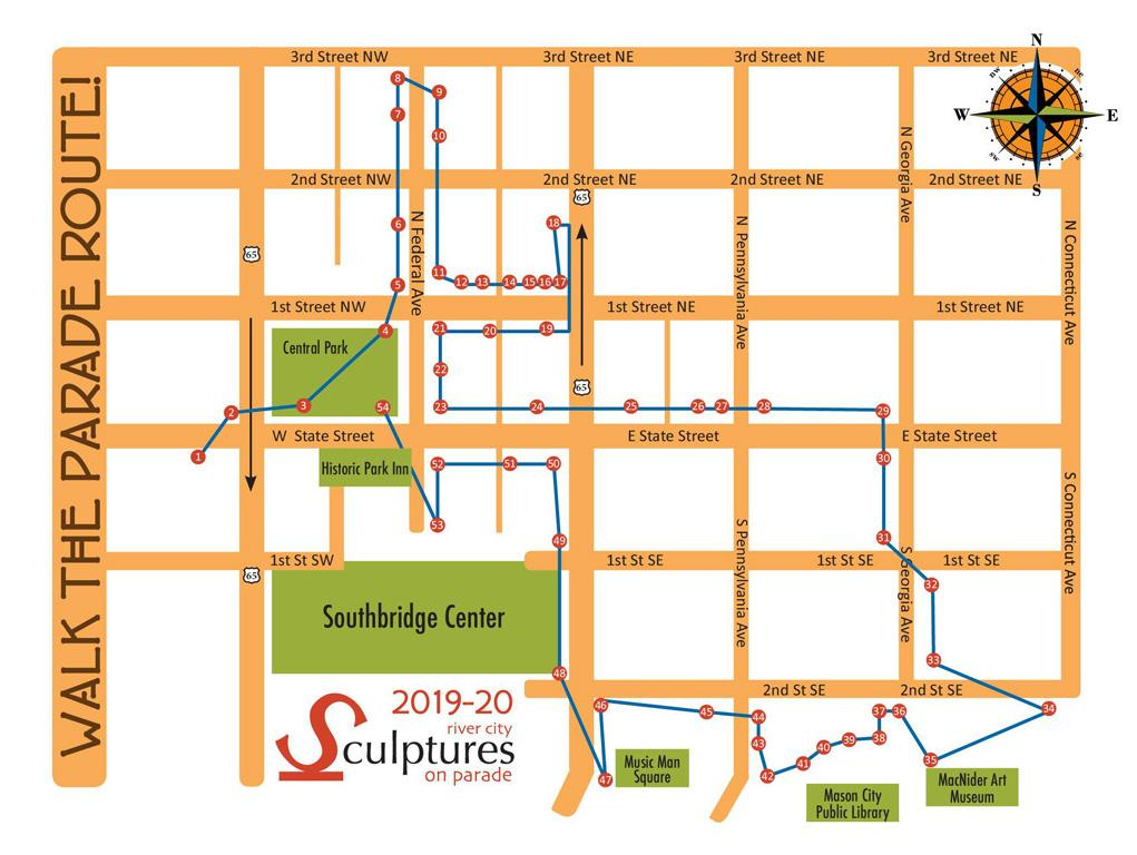 2019-2020 Walking Tour Map